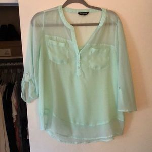 Like new Express mint green blouse M